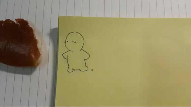 网友用面包和简笔画完成的定格动画