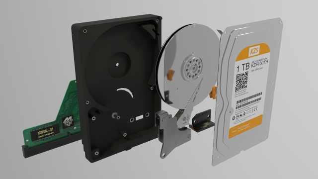 机械硬盘是怎么工作的?3D演示动画