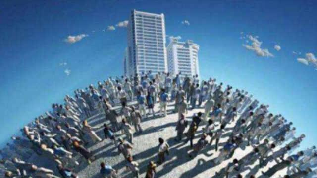 如74亿人口都住在一起要多高的楼?