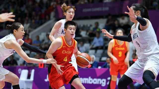 亚运中国女篮力克朝韩联队摘金