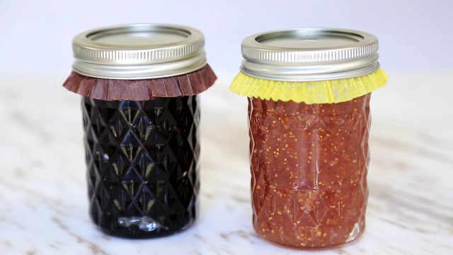 自制无花果和蓝莓两种果酱