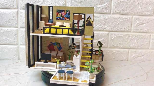 迷你娃娃屋,不规则的复式小屋