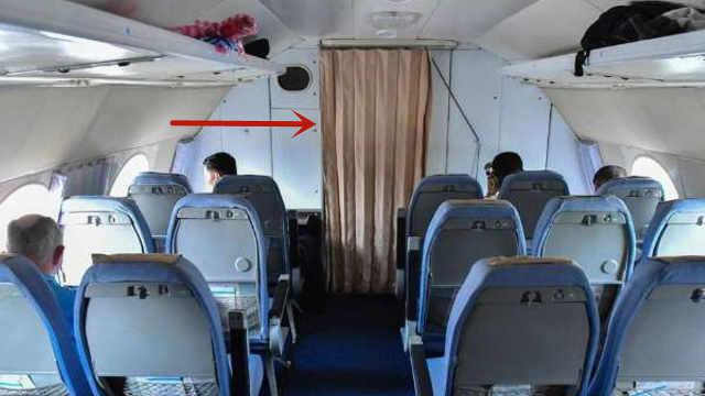 空姐将前方布帘拉上是为什么?