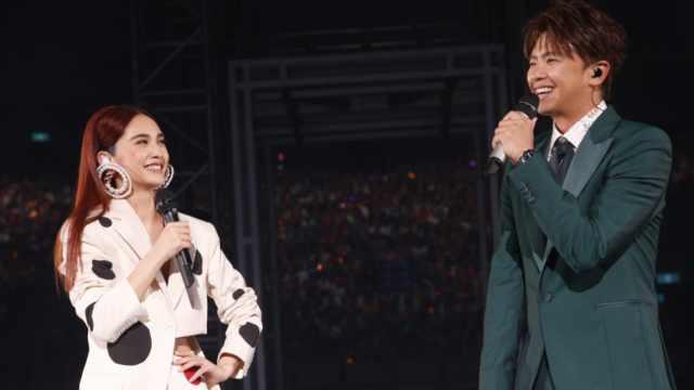 杨丞琳演唱会请来前男友,感动相拥
