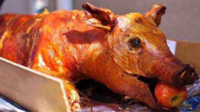 烤全猪嘴里塞苹果,到底有什么用?
