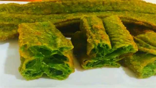 绿色油条的做法,简单美味,超好吃