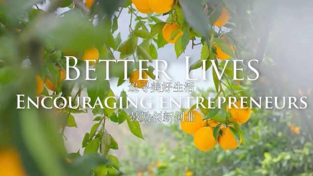 追寻美好生活,鼓励创新创业
