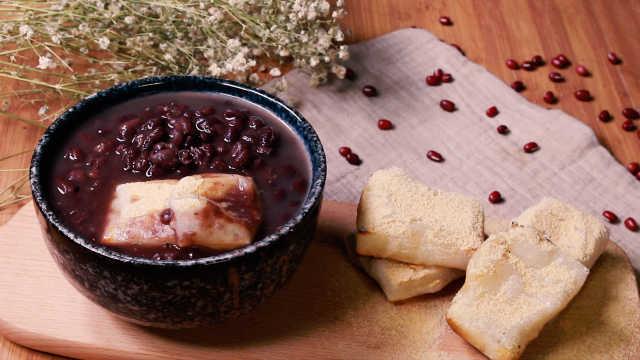自己学做蜡笔小新最爱的年糕红豆汤