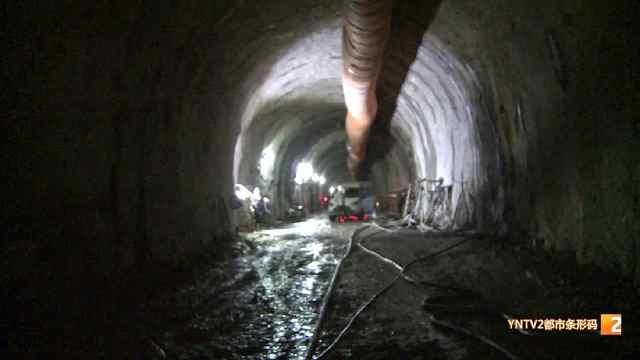玉磨铁路安定隧道2号斜井贯通