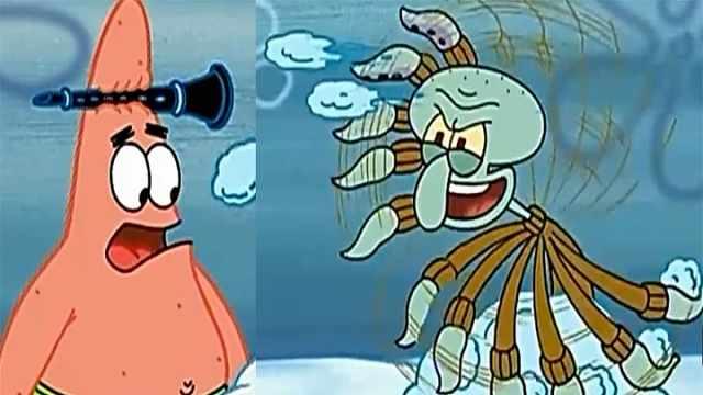 海绵宝宝:章鱼哥被派大星欺负