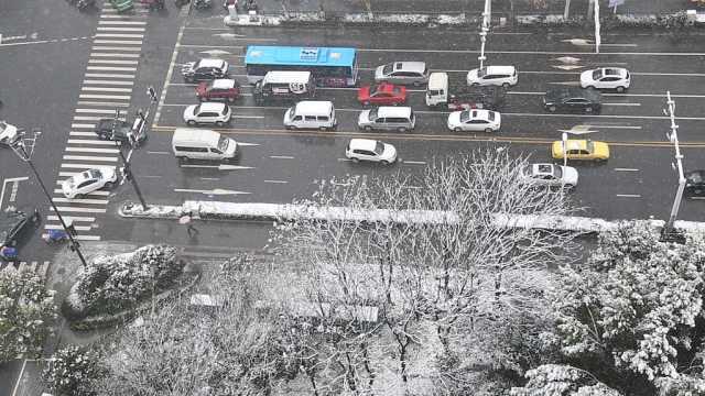 视频实拍:南京喜提2019初雪