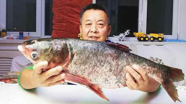 当场分解7斤重的查干湖胖头鱼