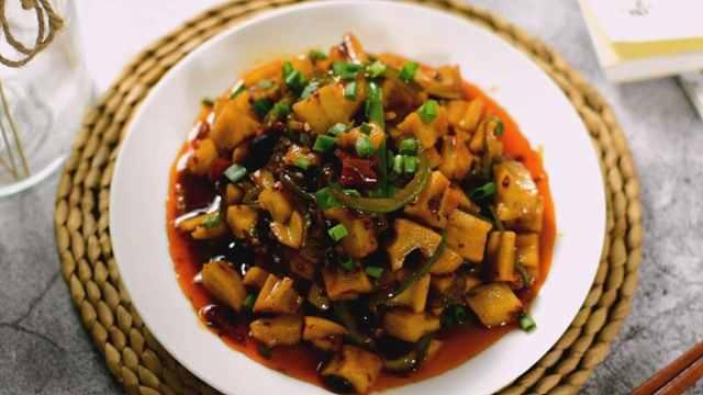 酸辣藕丁,春节后的开胃小菜