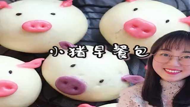 猪年就要吃猪猪早餐包,宝宝最爱!
