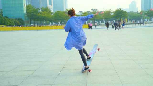 滑板倒滑转正滑,姿势技巧轻松Get