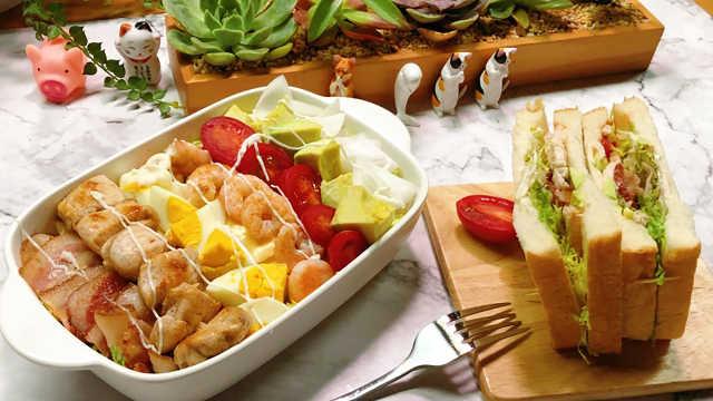 考伯沙拉,色彩缤纷,大口吃肉!