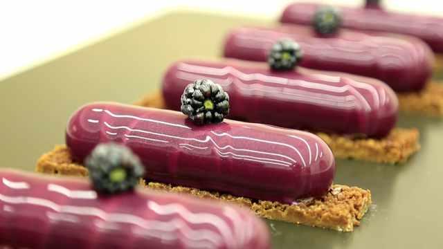 黑莓芝士慕斯条:追求精致