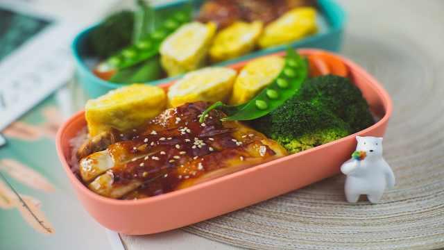 颜值与美味并存的照烧鸡扒时蔬便当