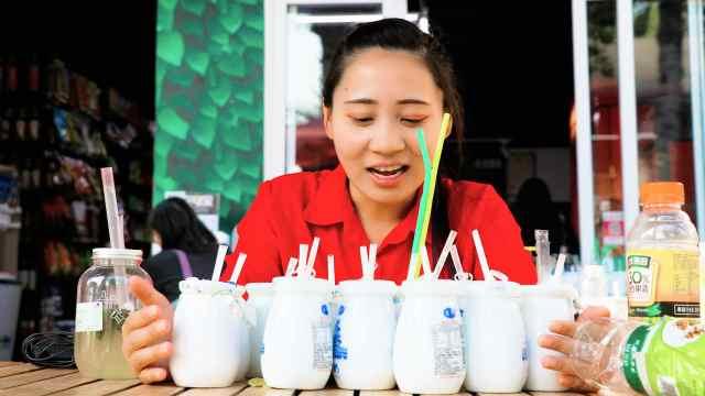 老北京瓷瓶酸奶,6块钱一瓶值了!