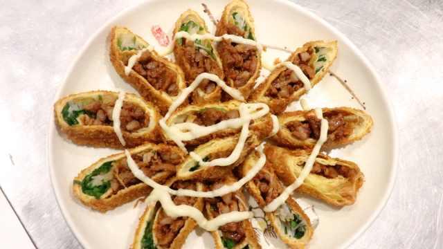 鸡蛋的N种吃法:山西蛋皮卷香菜