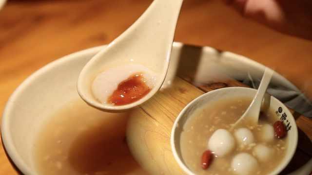 汤圆世家做的酒酿汤圆,1碗6种馅